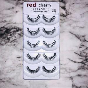 Red Cherry 5 Set of False Eyelashes NWT